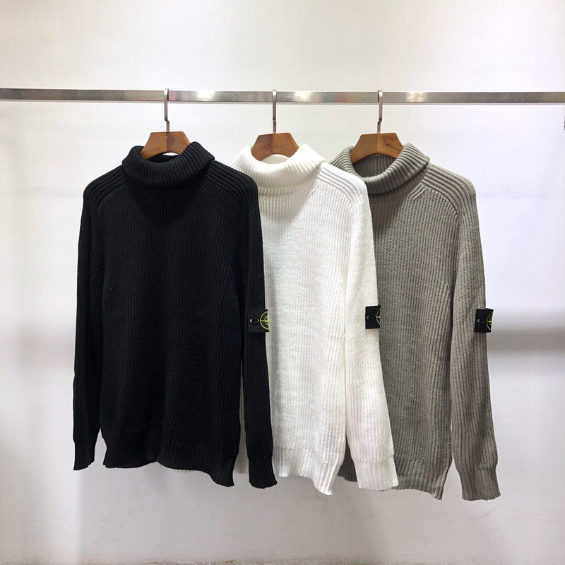 2019fw Best Quality 1:1 Logo Patched Women Men Turtleneck Sweater Hiphop Streetwear Basic Sweater Pullover(China)
