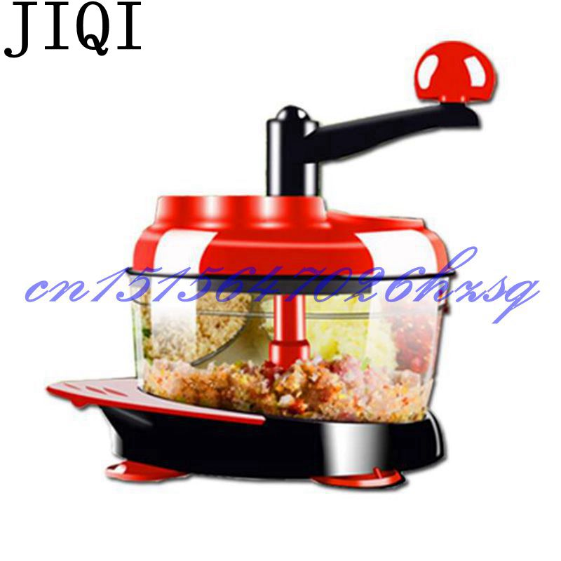 JIQI Household Manual Multifunctional vegetables cutter mincing stuffing Mixer For kitchen vegetable grinder jiqi household slicer cutter blenders multifunctional grinder fruit and vegetable cutters water ice salad maker with 5 cutters