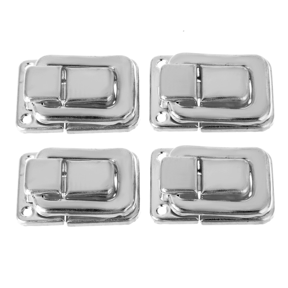 4pcs Fastener Toggle Lock Latch Catches For Suitcase Case Boxes Chests Trunk Door Tools