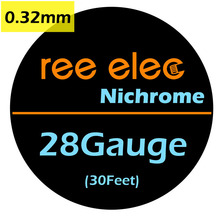 REE ELEC 10m/roll 0.32mm Nichrome Heating Wires DIY  Coil  Accessories Ni80 Heating Wires  For Electronic Cigarette RDA Atomizer