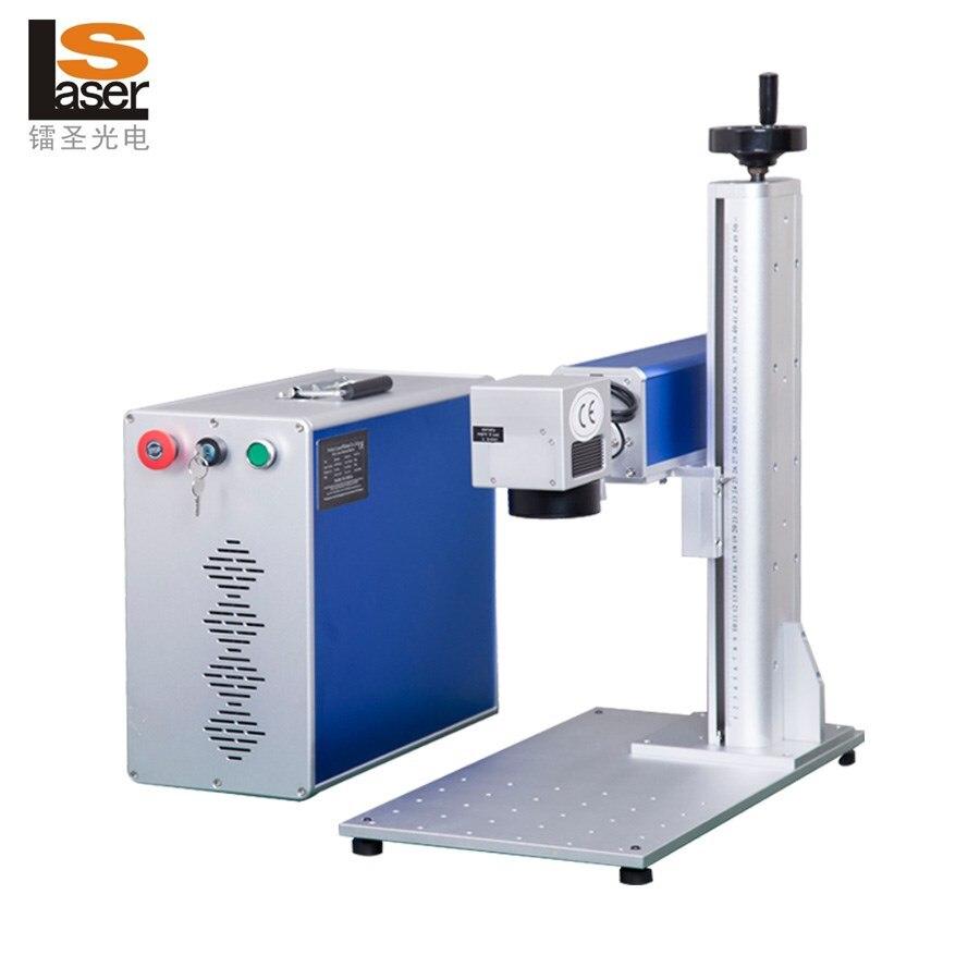 30 W Draagbare Optische Fiber Laser-markering Machine Roestvrij Staal Mobiele Telefoon Mes Oppervlak Markering