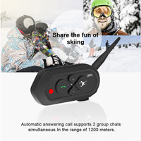 EJEAS SKI10 1200m Bluetooth SKI Helmet Intercom Headset Big Button 500mAh AUX Auo Reconnection Firmware Upgradeable for 2 Skiers|Helmet Headsets| |  -