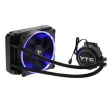 VTG120 жидкости морозильник воды Система Жидкостного Охлаждения Процессор охладитель гидродинамическим подшипником 120 мм вентилятор с синей подсветкой