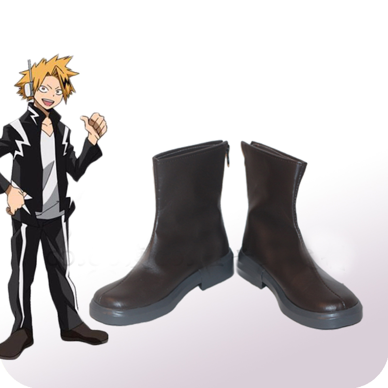 My Hero Academia Boku No Hero Akademia Kaminari Denki Cosplay Shoes Boots Adult Halloween Carnival Cosplay Costume Accessories