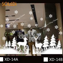Christmas Decorative Decal Window Stickers Removable Xmas Glass Wall Stickers