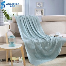 Nordic Solid 100% Acrylic Blankets Bedspreads Knitted Thread Plaid Blue Khaki White Warm Sofa Couch Car Bed Throw Blanket
