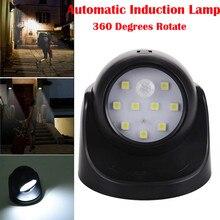 LED sensörlü ışık Otomasyon Indüksiyon Tavan Lambası 360 Rotasyon SMD LED Hareket Sensörü Gece Işığı Lambası Merdivenler için Ev