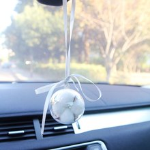 Raw flowers cotton flower ball car accessories pendant interior supplies hanging birthday gift with hand