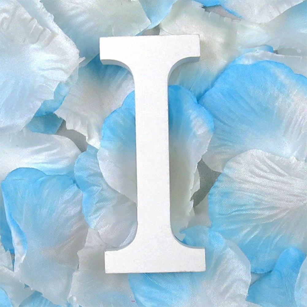 3D деревянные буквы letras decorativas персонализированное Имя Дизайн Искусство ремесло деревянные украшения letras de madera houten буквы - Цвет: I