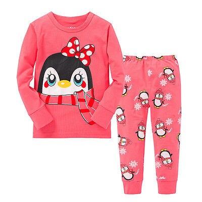 2 Stücke Baby Mädchen Kinder Tops + Hosen Nachtwäsche Nachtwäsche Pyjama Pyjama Pj Outfits