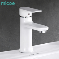 Micoe 2018 New Contemporary Bathroom Faucet Single Handle Single Hole Basin Faucet Hot And Cold Faucet