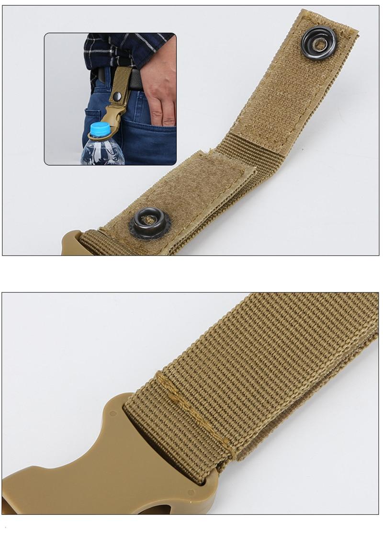Outdoor military Nylon Webbing Buckle Hook Water Bottle Holder Clip EDC Climb Carabiner Belt Backpack Hanger Camp (18)