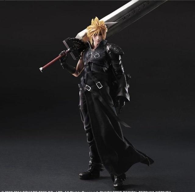 Play Arts Final Fantasy Figure Final Fantasy VII Cloud Strife Figure PA 27cm PVC Action Figure Doll Toys Kids Gift