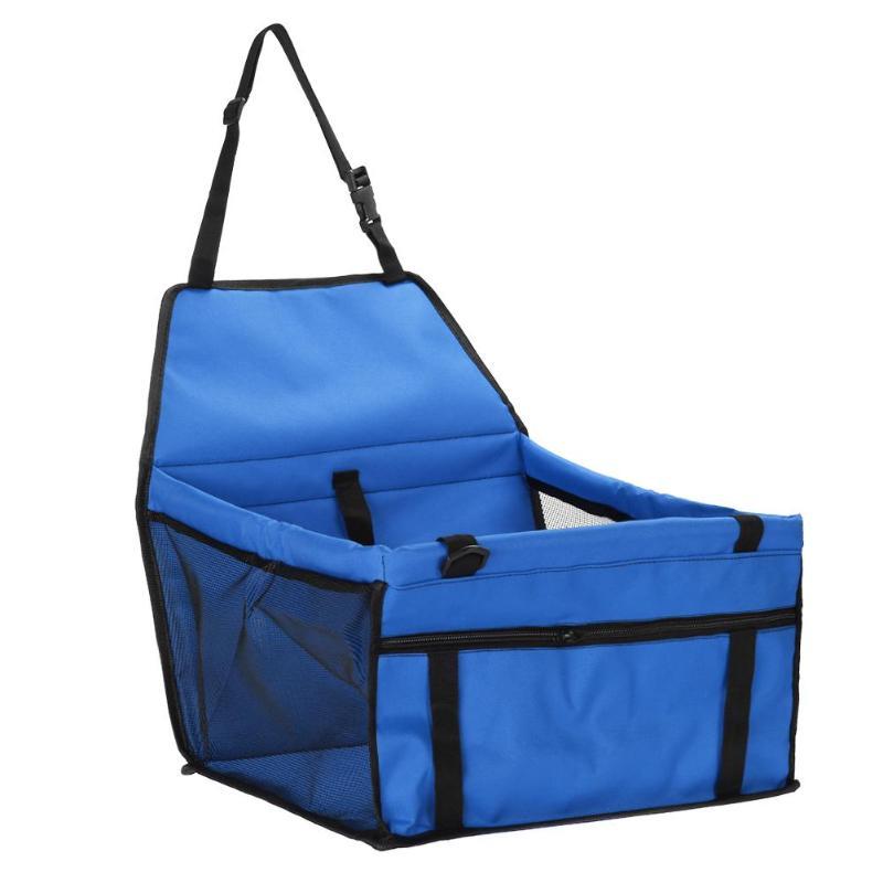 Pet Car Sheat Travel Basket-blue