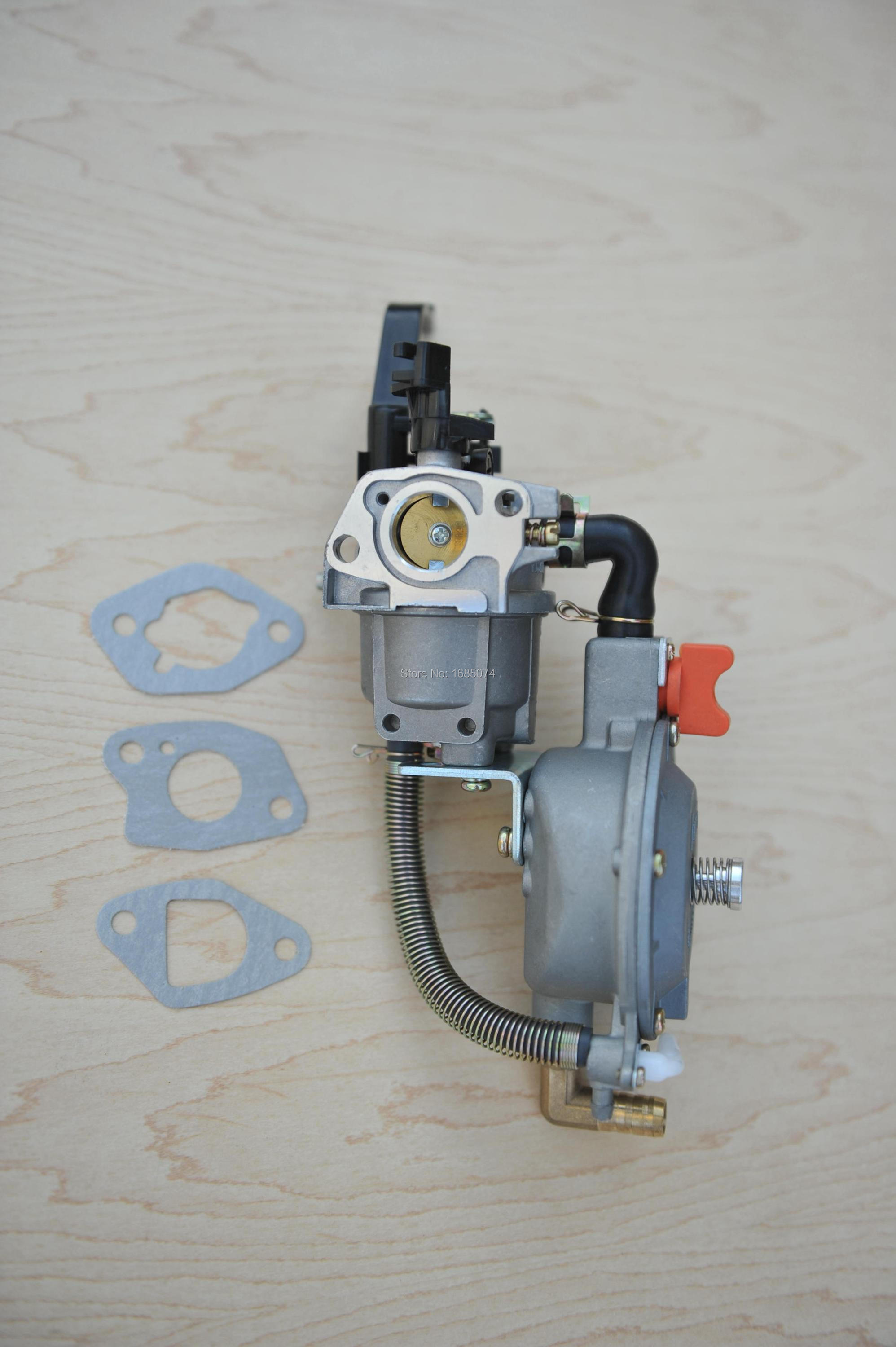 dual fuel carburetor for gasoline generator LPG NG propane