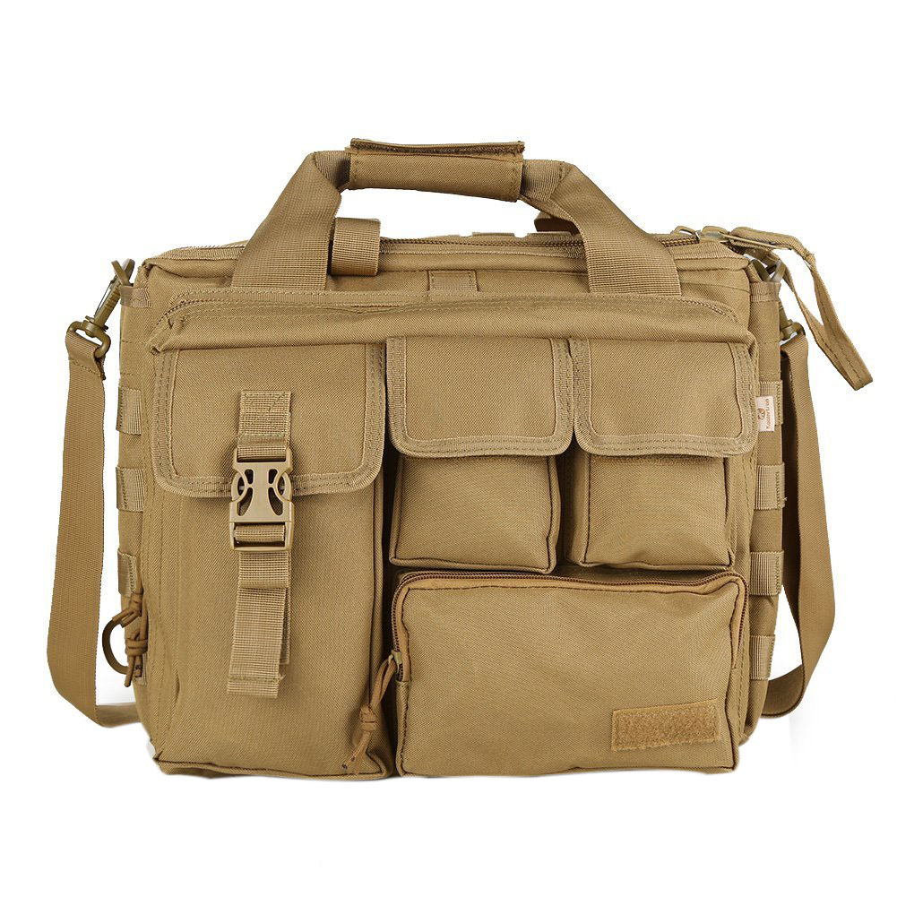 Hot Fashion Pro- Multifunction Mens Military Traveling Nylon Shoulder Messenger Bag Handbags Briefcase Large Enough for 14 Lap fashion green tree pattern photo wall sticker for livingroom bedroom decoration