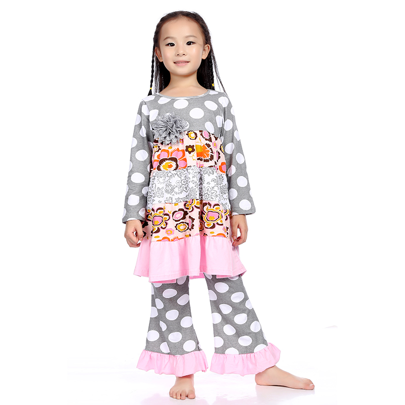 Aliexpress.com  Buy new 2015 christmas clothes baby girls xmas Outfit girl boutique ruffle ...
