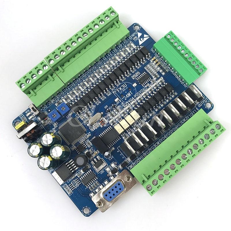 DC24V FX1N FX2N FX3U 24MT PLC Industrial control board 14 input 10 transistor output with RS485