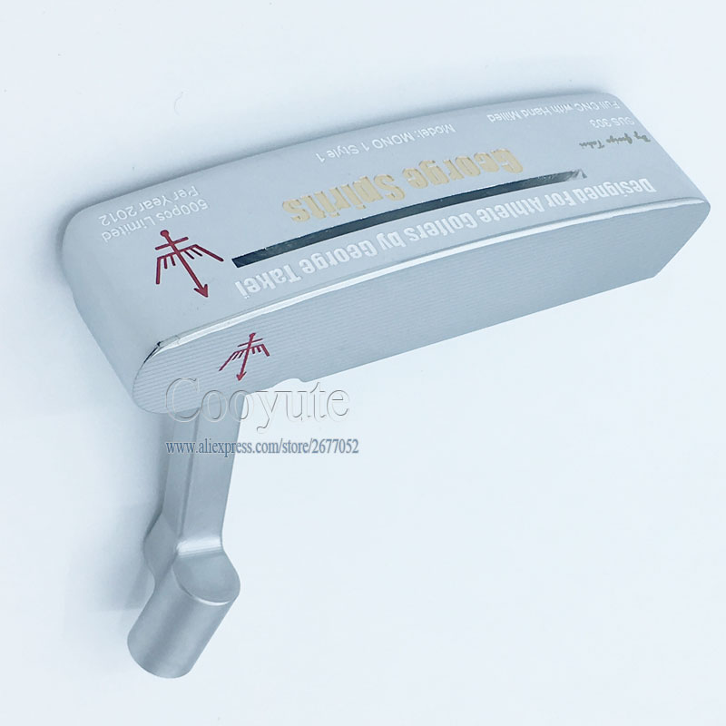 NEW Cooyute Golf heads George Spirits MONO1 limited Golf Putter Haeds T silver Golf Club heads No Clubs shaft Free shipping модель корабля etti mono1