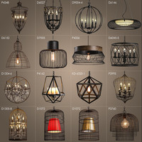 American Loft Vintage Lamps Personality Balcony Wrought Iron Pendant Lights,Vintage Edison Pendant Lamps