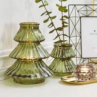 Nordic Simple Glass Vase Creative Home Garden Decoration Decorative Glass Vase Vase Classic