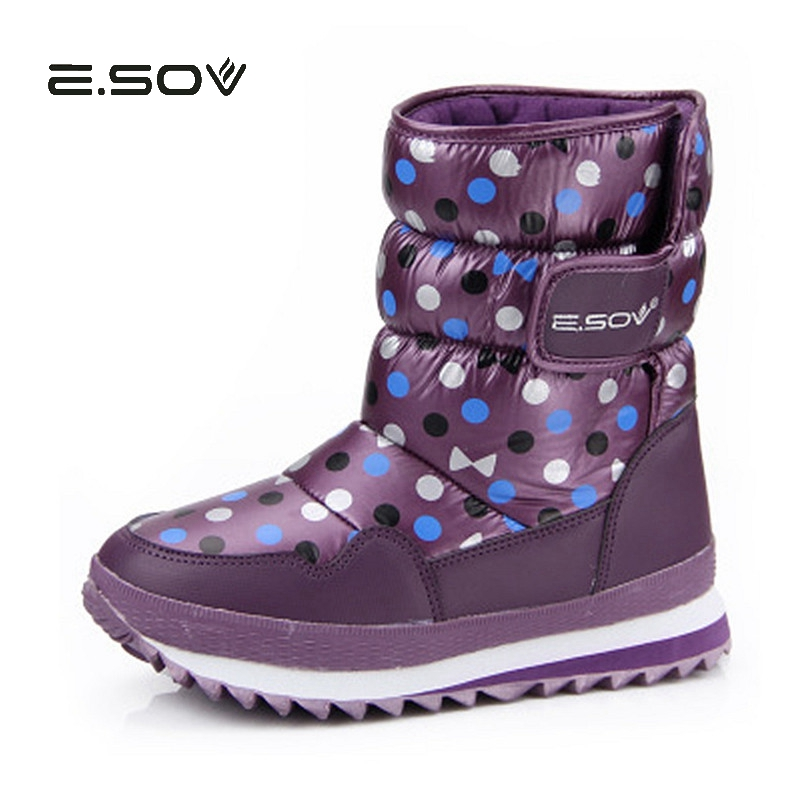 Winter New Waterproof Snow Boots Woman 2017 New Thickening Warm Cotton Padded Shoes Non-slip Female Fashion Winter Snow Shoes 2017 thickened graffiti zippers women short snow boots female cotton winter shoes fashion design warm flock page 2