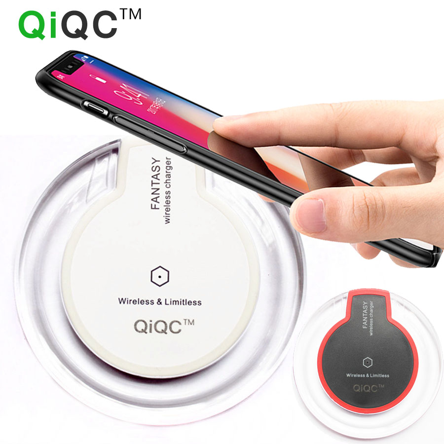 QiQC Wireless Charger Universal Qi Wireless Charger Charging Pad For Iphone 8 8plus X for Samsung Galaxy S6 S7 Edge S8 Plus