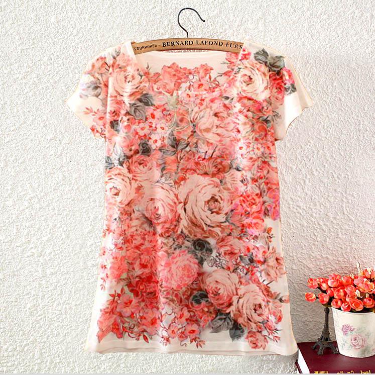Plus Size O-Neck Print T Shirt Mujer Blusas Kawaii Camisa Tshirt Casual Tops Women T-shirt Plus Size
