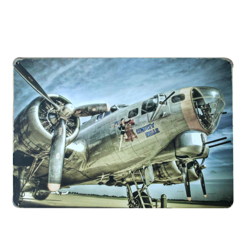 Online Buy Wholesale Airplane Metal Signs From China