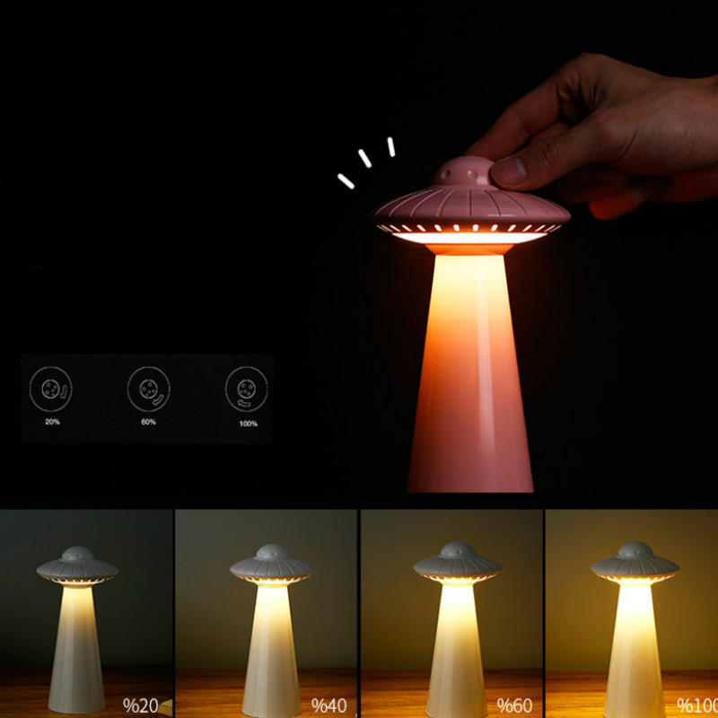 Dimmable Led Night Light UFO Table Lamp USB Rechargeable For Children Baby Bedside Bedroom LivingRoom Study Atmosphere Lighting