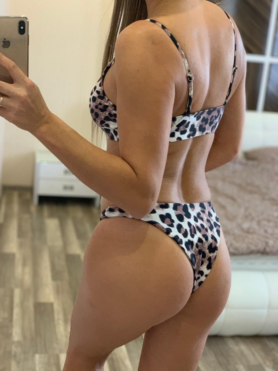 HTB1OvN7X2fsK1RjSszgq6yXzpXaR 6 Colors Sexy Leopard 2019 Bikini Women Swimwear Female Swimsuit Two-pieces Bikini set Brazilian Bather Bathing Suit Swim V871