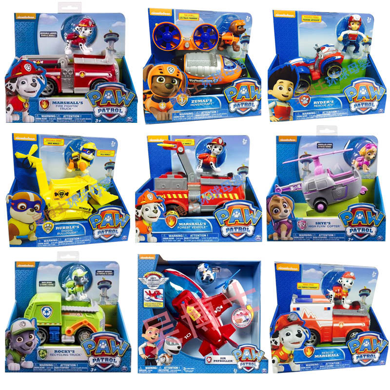 Genuine Spin Master Paw Patrol RESCUE RACERS VEHICLE Skye's High Flyin Copter Ryder's Rescue ATV Vehicle and Figure children toy-in Action & Toy Figures from Toys & Hobbies