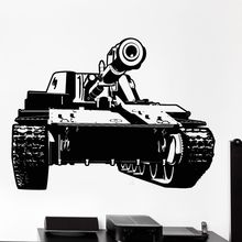 Vinyl Wall Sticker War Army Equipment Decal Tank Military Art Mural Removable Decor AY1037