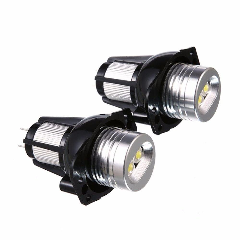 2Pcs LED Angel Eye Halo Ring Marker Light Bulb 10W for BMW E39 E53 E60 E61 E63 E64 Light Bulb