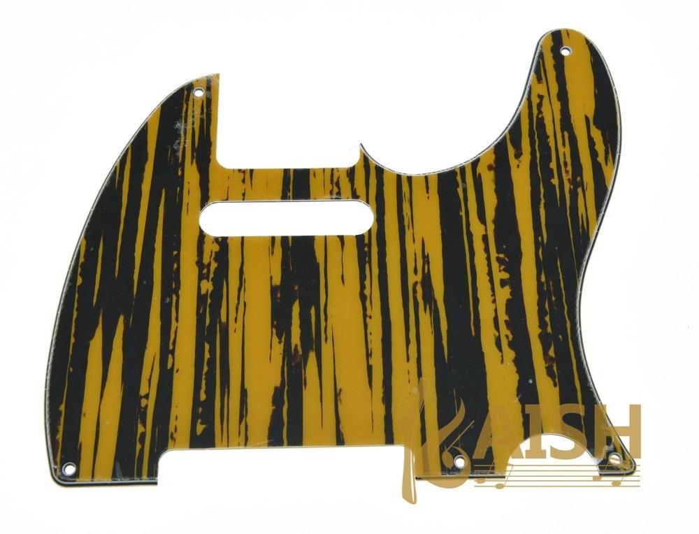Vintage 5 Hole TL Style Guitar Pick Guard Tawny Stripe Fits TL