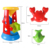 5 pcs funny kids play set brinquedos ampulheta ferramentas de areia água Crianças de praia Seaside Balde Pá Ancinho Kit Construção de Moldes Do Mar TY0137