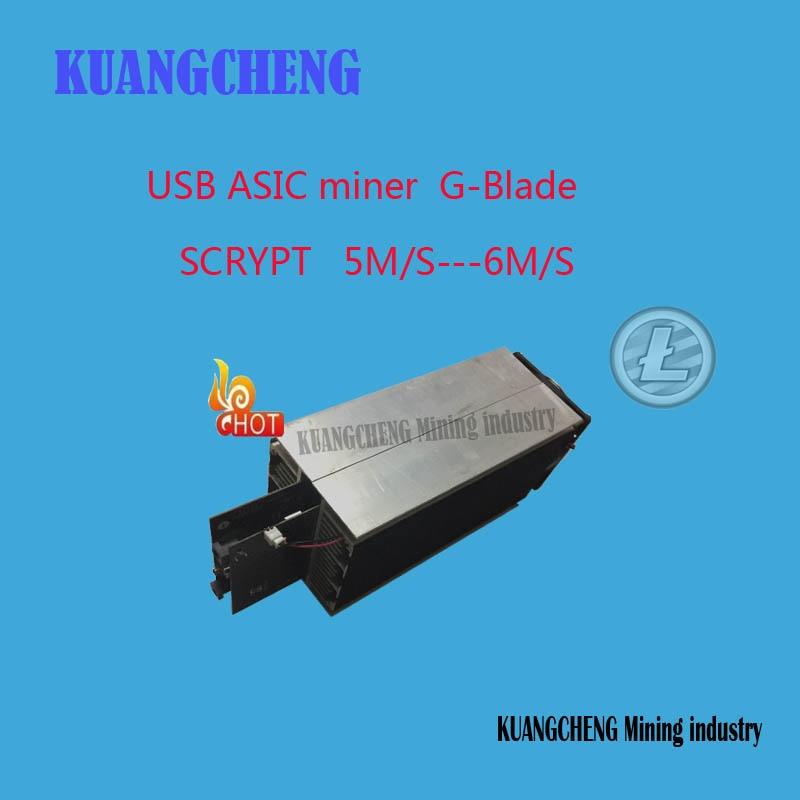 KUANGCHENG горная промышленность Ltc miner Gridseed Blade G-Blade Scrypt Litecoin ASIC Miner 5,2 ~ 6Mh/s asic miner Майнер Litecoin + PSU