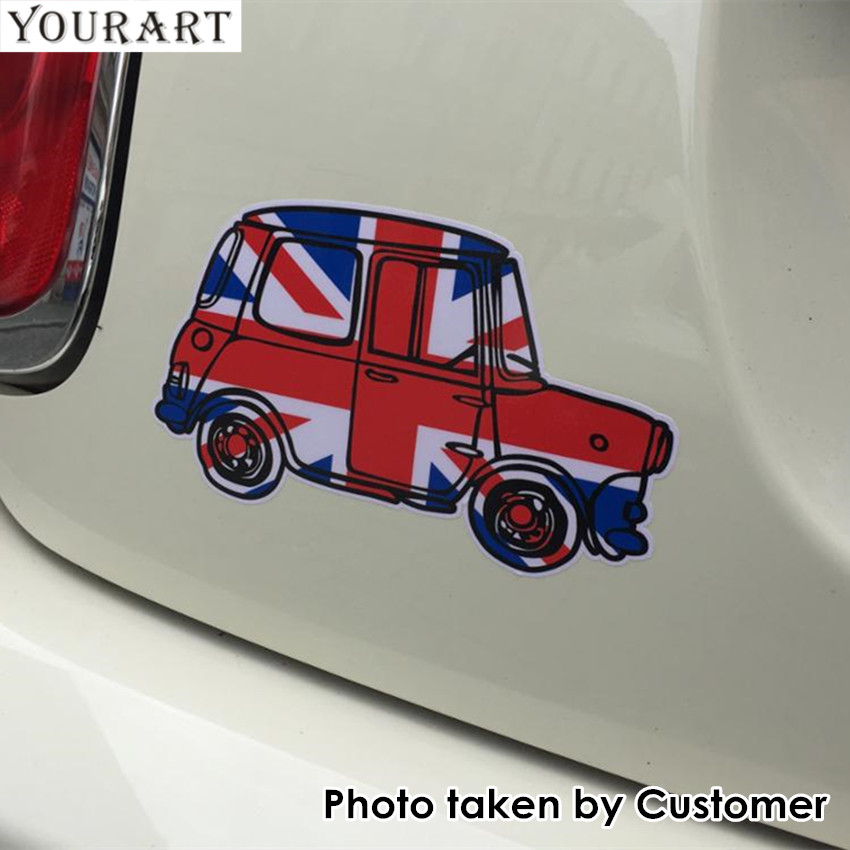 YOURART Car Sticker Vintage UK flag Stickers para Mini Cooper F56 S Countryman Clubman R56 Mini R50 R60 F55 Pegatinas Accesorios