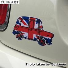 Стикер для автомобиля yourart винтажные наклейки с флагом Великобритании