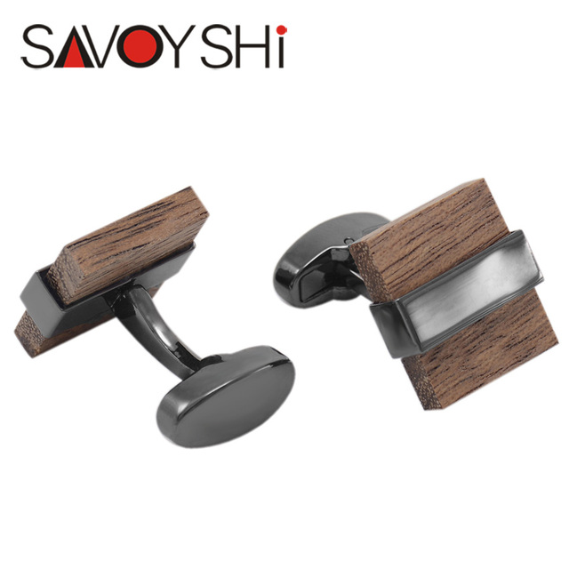 Luxury Wood Cufflinks Square