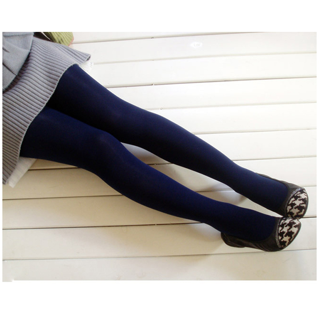 ca0ed6f488e2c 1Pc Navy Blue Sexy Women Lady Tights Pantyhose Foot Seamless Stockings  Winter Pantyhos Autumn Winter Tights Warm Tights Pantyhos