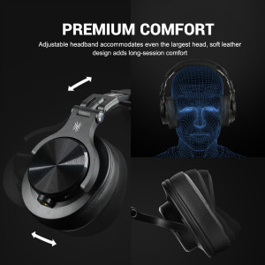 Image 2 - OneOdio Fusion Over Ear Bluetooth Headphones Professional Studio Recording Monitor Wired DJ Headphone Wireless Headset With Mic