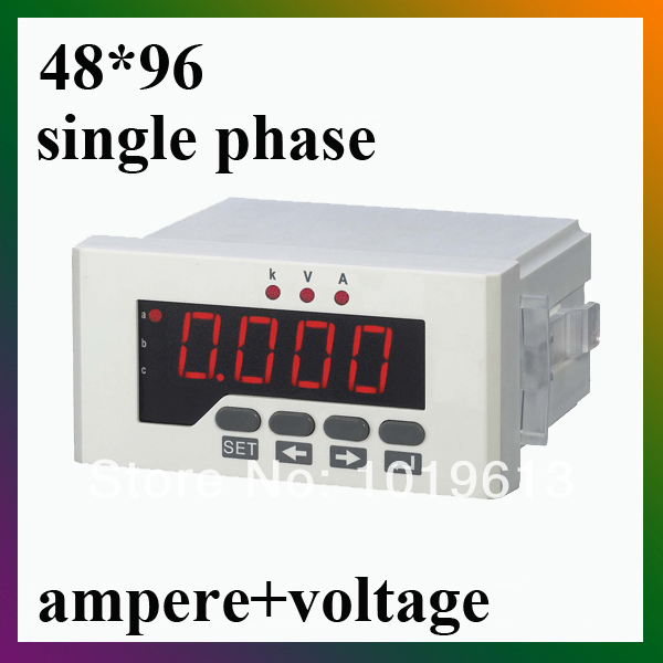 single phase led digital voltmeter ammeter power current voltage meter amper volt meter dc  цены