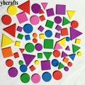 250 шт./партия/партия. Смешанная форма пены, Нерегулярные геометрические фигурные наклейки, пенопластовая головоломка, наклейка на стену, ранние обучающая игрушка, детские игрушки. OEM - фото