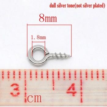 Doreen caja encantadora 1000 plata tono tornillo fianza ocular superior perforado encontrar 8mm (B08422)