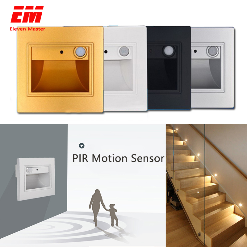 1.5W 2.5W PIR Motion Sensor Led Stair Light Infrared Human Body Induction Wall Lamp Recessed Step Ladder Wall Light ZBD00101.5W 2.5W PIR Motion Sensor Led Stair Light Infrared Human Body Induction Wall Lamp Recessed Step Ladder Wall Light ZBD0010