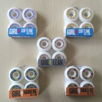 2016 4pcs Set 50mm To 53mm And 53mm 101A Skateboard Wheels Girl Wheels For Deck Blue