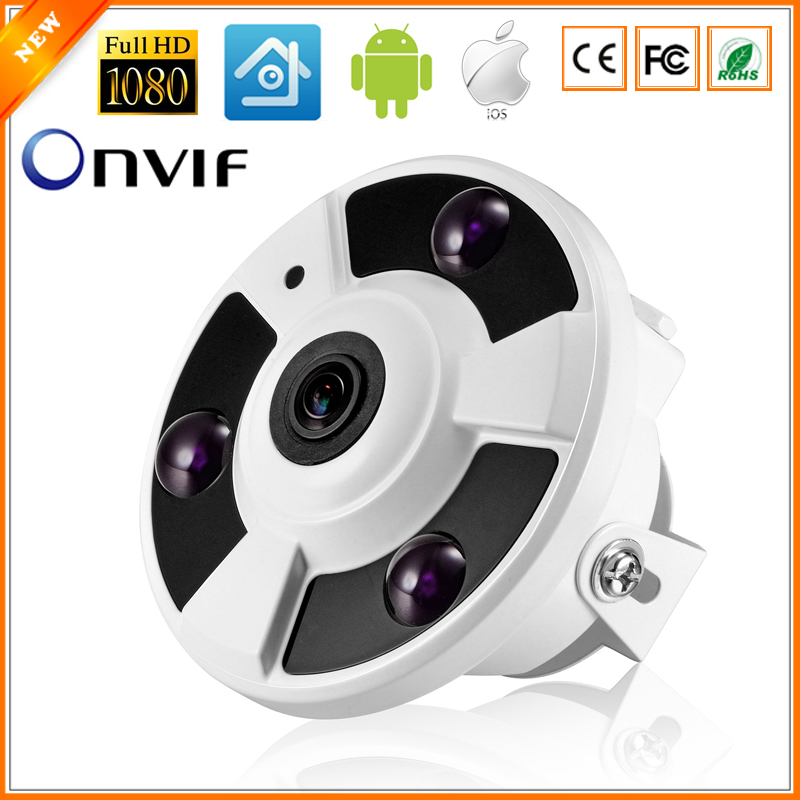 HKES  Panoramic Camera IP 720P 960P 1080P Optional IP Camera Wide Angle FishEye 5MP 1.7MM Lens Camera CCTV Indoor ONVIF купить