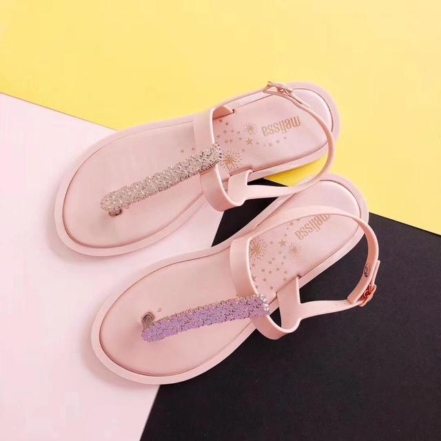 separation shoes 43349 22f63 Melissa Frau Sandalen 2019 mode hohe qualität Strass frauen flip flops  schuhe damen casual sommer strand
