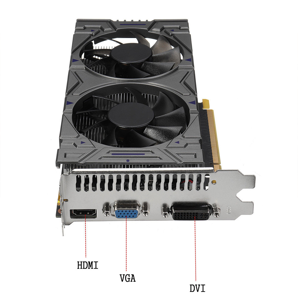 New NOT Original Graphic Card Geforce 1050 2GB DDR5 Video Card 1050 Modified by 550Ti 2 GB Graphics Card